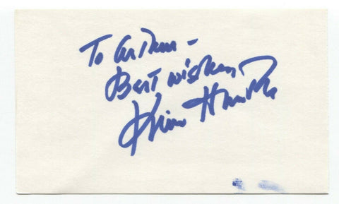 Kim Hunter Signed 3x5 Index Card Autographed Signature Planet of the Apes