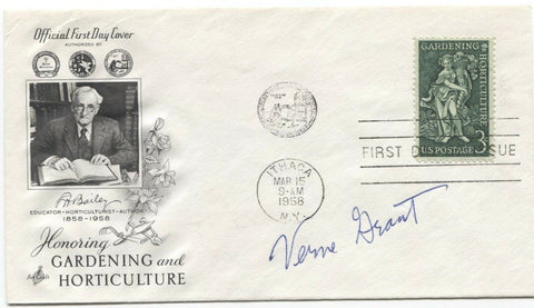 Verne Grant Signed FDC First Day Cover Autographed Vintage Botanist Signature