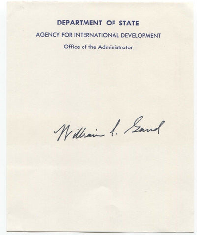 William Gaud Signed Note Page Autographed Signature Green Revolution