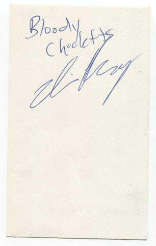 Bloody Chicletts- Devin Reschny Signed 3x5 Index Card Autographed Signature Band