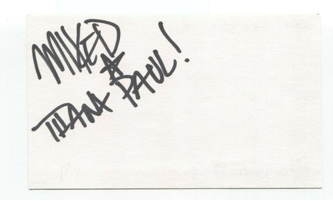 Taproot - Mike DeWolf Signed 3x5 Index Card Autographed Signature Band