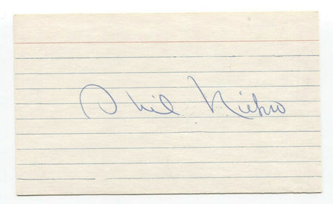 Phil Niekro Signed 3x5 Index Card Baseball Hall of Fame Autographed HOF