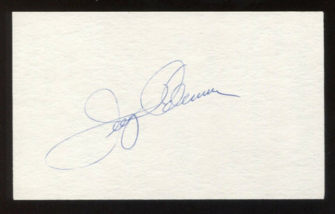 Jerry Coleman Signed 3x5 Index Card Vintage Autographed Baseball Signature HOF
