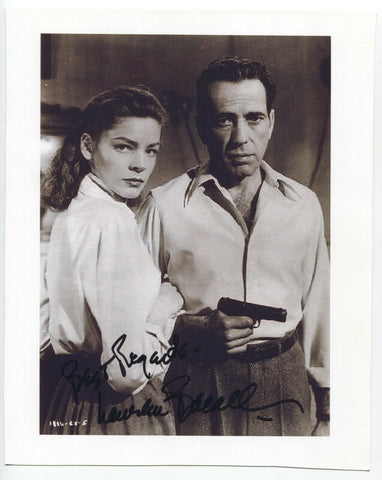 Lauren Bacall Signed 8x10 Inch Photo Autographed Signature