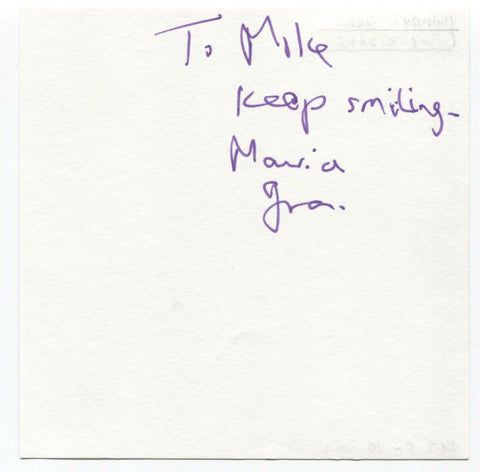 "Maurice Gran Signed Album Page Autographed Signature ""To Mike"" Playwright"