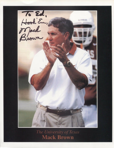 Mack Brown Signed 8x10 Photo College NCAA Football Coach Autograph Texas