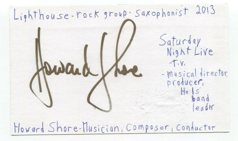 Howard Shore Signed 3x5 Index Card Autographed Composer Lord of the Rings Hobbit