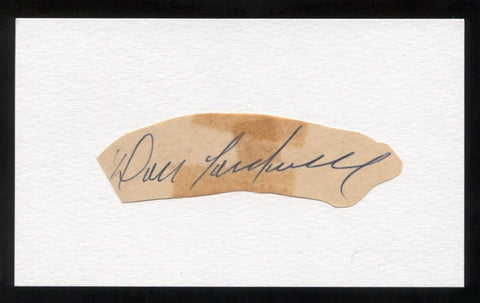Don Cardwell Signed Cut Autographed Index Card Circa 1962 Baseball Signature