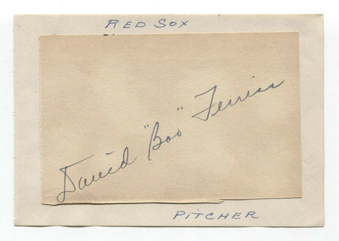 Boo Ferris Signed Album Page Autographed Baseball Vintage 1940s Boston Red Sox