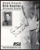 Dirk Koetter Signed 8x10 Photo College NCAA Football Coach Autographed