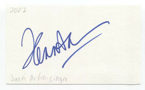 Jann Arden Signed 3x5 Index Card Autographed Signature Singer