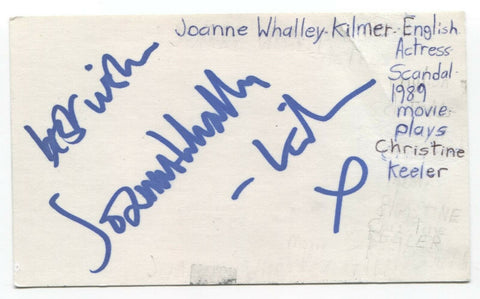 Joanne Whalley Signed 3x5 Index Card Autographed Signature Actress Willow