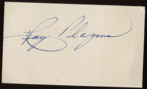 Ray Plagens Signed Card  Autographed Orchestra AUTO Signature Organist