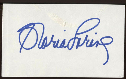 Gloria Loring Signed Index Card Signature Vintage Autographed AUTO