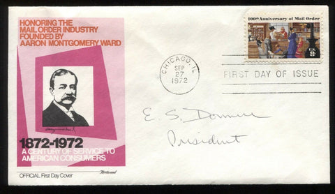 Edward S. Donnell Signed First Day Cover Autograph FDC Signature Sears President