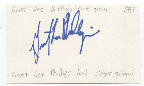 Grant Lee Buffalo - Grant-Lee Phillips Signed 3x5 Index Card Autographed Band
