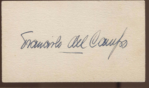 Francisco Flores Del Campo Signed Card Autograph Vintage AUTO  Orchestra Chile