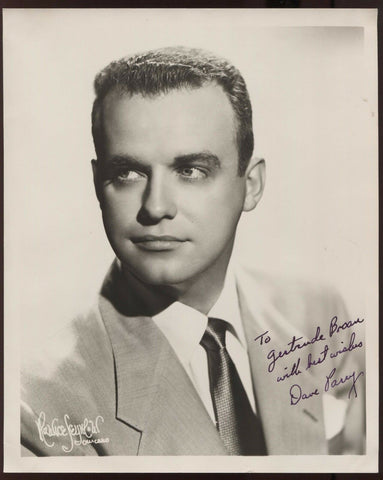 Dave Parry  Signed 8x10 Photo Autographed Vintage AUTO Signature ORCHESTRA
