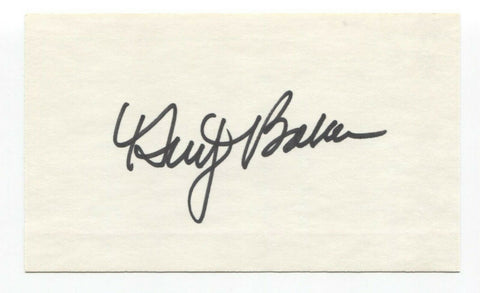 Dusty Baker Signed 3x5 Index Card Baseball Autographed Signature