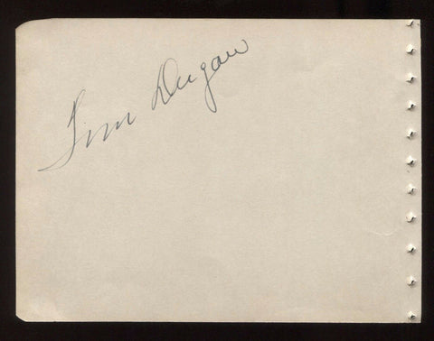 Tom Dugan Signed Album Page Autographed in 1944 Signature