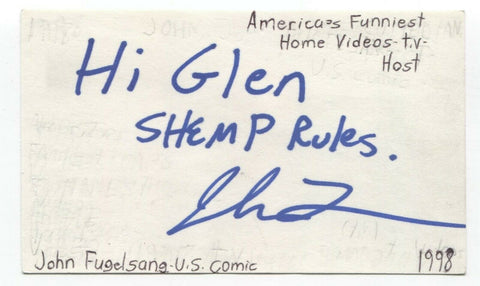 John Fugelsang Signed 3x5 Index Card Autographed Signature Actor Coyote Ugly