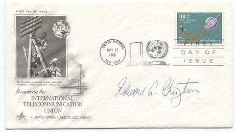 Edward Ginzton Signed FDC First Day Cover Autographed Scientist Engineer