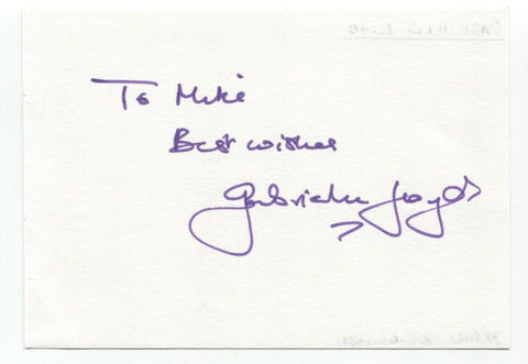 "Gabrielle Lloyd Signed Album Page Autographed Signature Inscribed ""To Mike"""