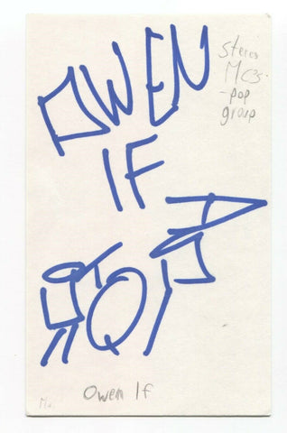 Stereo MC's - Owen If Signed 3x5 Index Card Autographed Signature