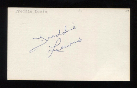 Freddie Lewis Signed 3x5 Index Card Autographed Signature Basketball