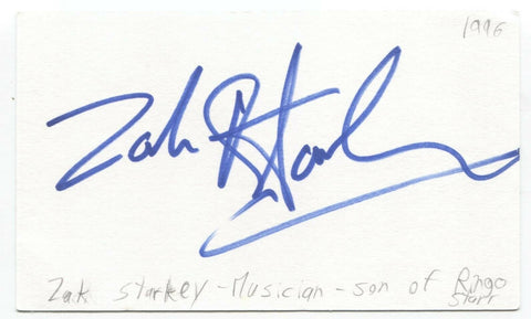 The Who - Zak Starkey Signed 3x5 Index Card Autographed Signature Drummer