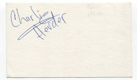 Nerf Herder - Charlie Dennis Signed 3x5 Index Card Autographed Signature Band