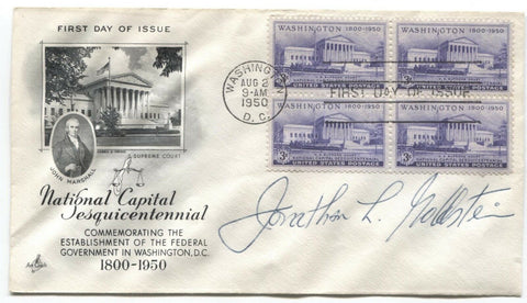 Jonathan L. Goldstein Signed FDC First Day Cover Autographed Attorney Signature
