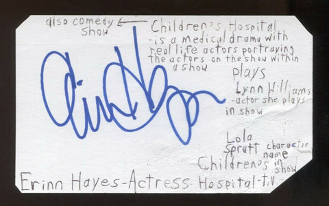 Errin Hayes Signed 3x5 Index Card Autographed Signature Actress Parks and Rec