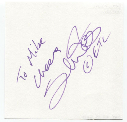 "Samuel West Signed Album Page Autographed Signature ""To Mike"" Sam Actor"