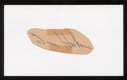 Tim Harkness Signed Cut Autographed Index Card Circa 1962 Baseball Signature