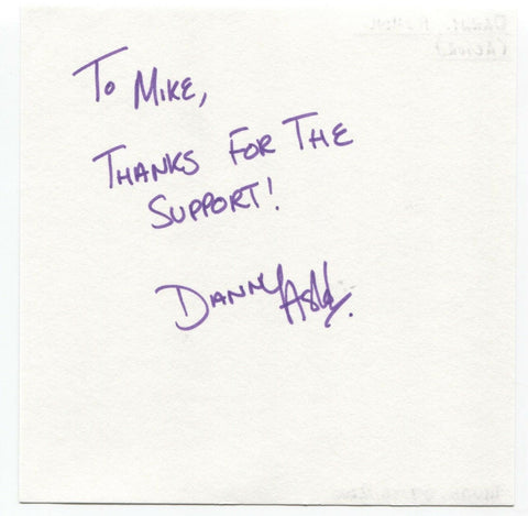 "Danny Ashok Signed Album Page Autographed Signature Inscribed ""To Mike"" Actor"