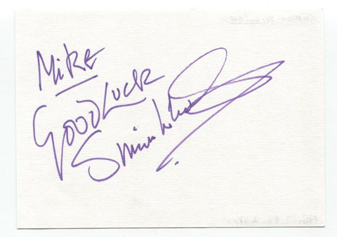 "Simon Williams Signed Album Page Autographed Signature Inscribed ""To Mike"""