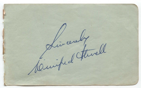 Winifred Atwell Signed Album Page Autographed Signature