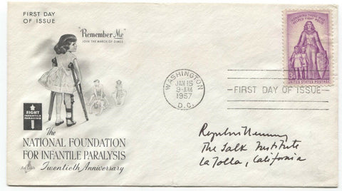 Roger Guillemin Signed FDC First Day Cover Autographed Nobel Prize Winner