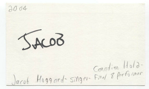 Jacob Hoggard Signed 3x5 Index Card Autographed Signature Canadian Idol Singer