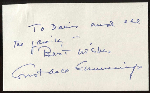 Constance Cummings Signed Index Card Signature Autographed AUTO