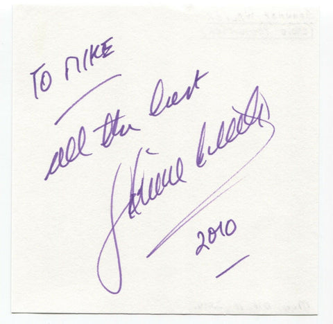 "Johnnie Walker Signed Album Page Autographed Signature ""To Mike"" Radio Presenter"