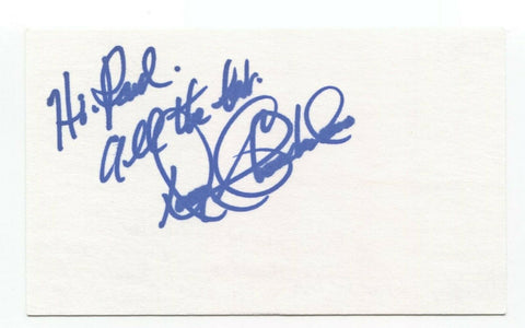 Douglas Chamberlain Signed 3x5 Index Card Star Wars Ewok Voice Actor