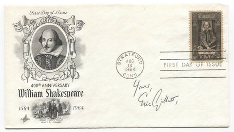 Eric Gillett Signed FDC First Day Cover Autographed Author Signature