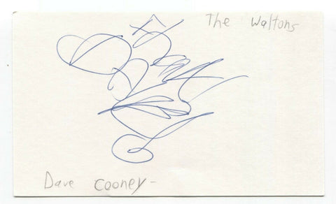 Waltons - David Cooney Signed 3x5 Index Card Autographed Signature Band