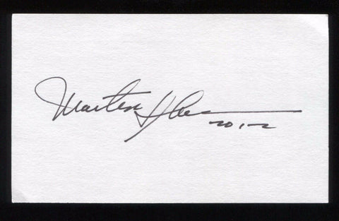 Martin Sheen Signed 3x5 Index Card Autographed Signature