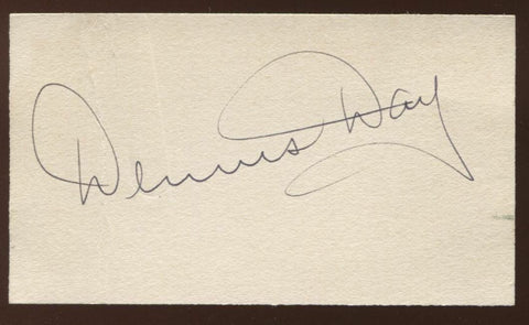 Dennis Day Signed Card  Autographed Singer Radio Actor  AUTO Signature