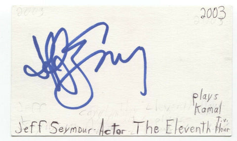 Jeff Seymour Signed 3x5 Index Card Autographed Signature Actor