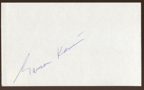 Garson Kanin Signed Index Card Signature Vintage Autographed AUTO