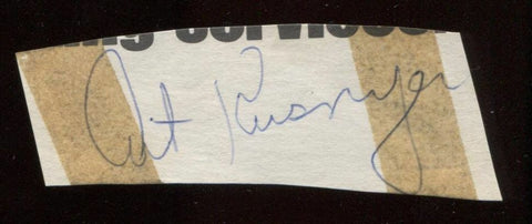 Art Kusnyer Signed Cut  From 1951 Autograph Clipped from a Baseball Program